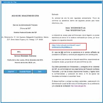 Tramitar RFC por internet