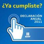 ¿Como Presentar la Declaración Anual 2011?