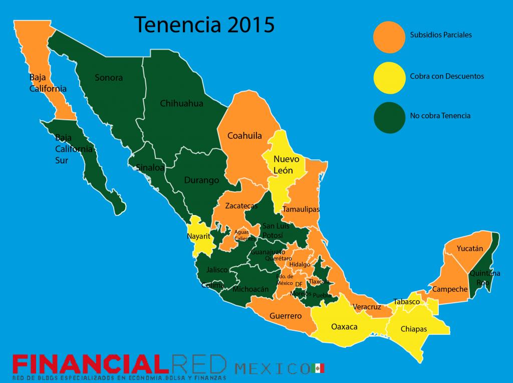 Mapa de Mexico tenencia 2015