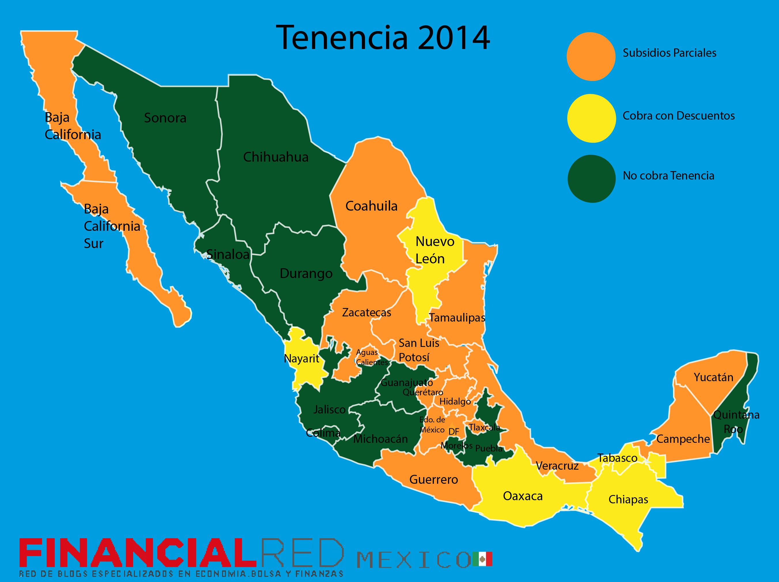 Mexico tenencia 2014