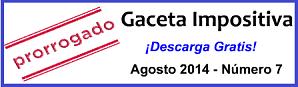 Gaceta Fiscal Agosto 2014