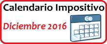 Calendario de Impuestos de diciembre 2016 en México