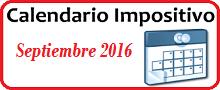 Calendario de Impuestos de septiembre 2016 en México