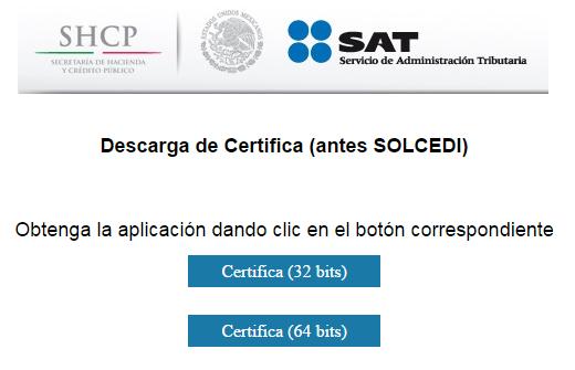 certifica SAT solcedi