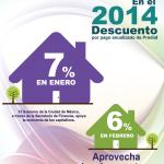 descuentos predial df 2014