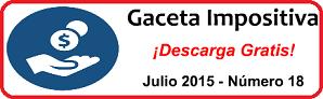 Gaceta Fiscal Julio 2015