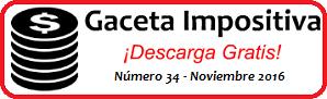 Gaceta Fiscal noviembre 2016