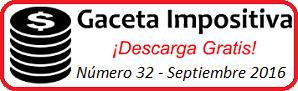 Gaceta Fiscal septiembre 2016