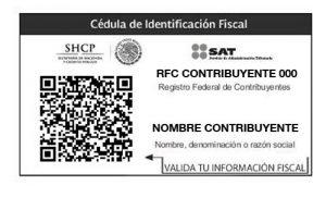 Imprimir RFC – Cédula de Identificación Fiscal con CBB