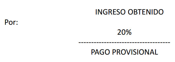 isr pago provisional venta no inmuebles