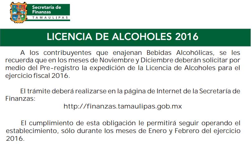 licencia alcoholes tamaulipas