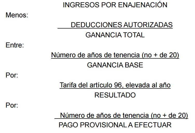 pagos provisionales isr enajenacion inmuebles