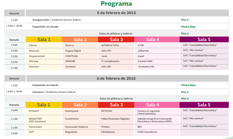 programa expo contabilidad electronica 2015